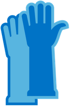 cleaning gloves icon
